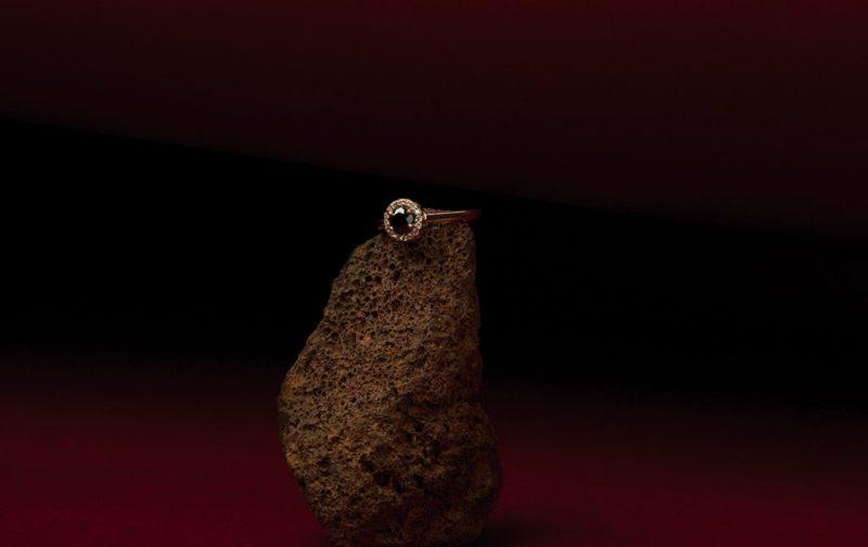 Georgina Rojo: joyería inspirada en la naturaleza - anillo-diamante-negro-joyeria