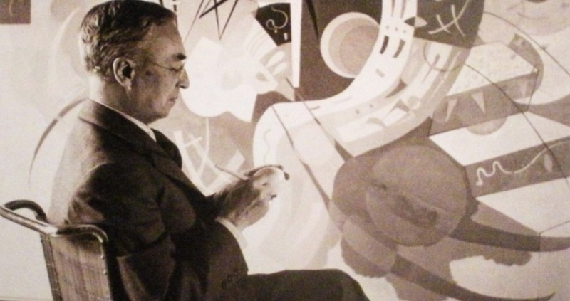 Kandinsky en Bellas Artes - kandinsky_kandinskypintando