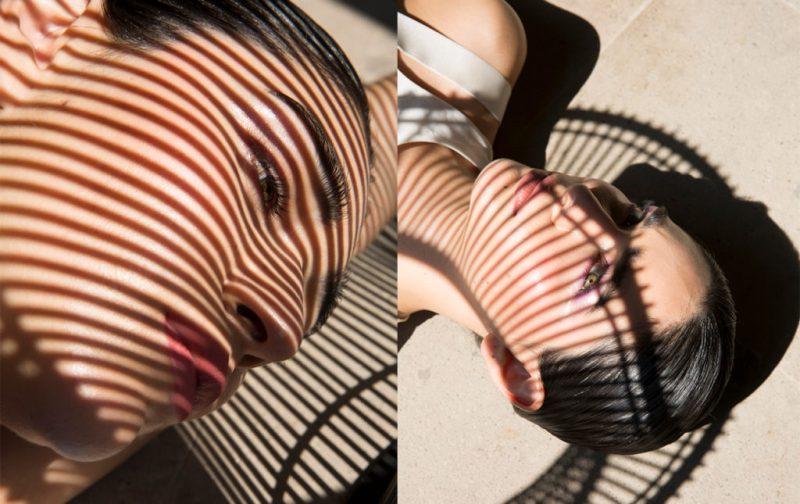Shadow - modelo-belleza-sobra-rayas-foto