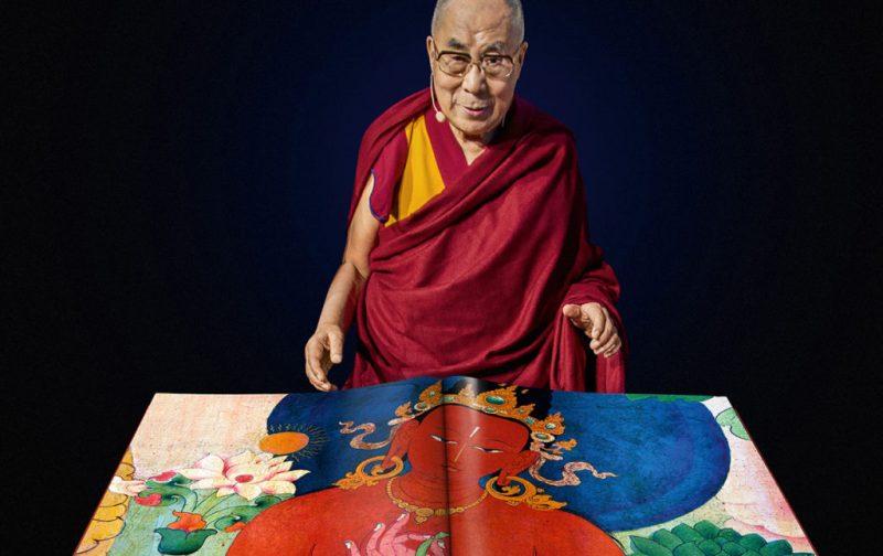 Thomas Laird y los murales del Tíbet - monje-libro-abierto-dibujos