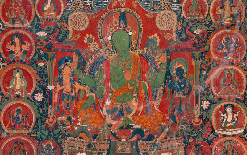 Thomas Laird y los murales del Tíbet - murals-of-tibet-colors-history-painting