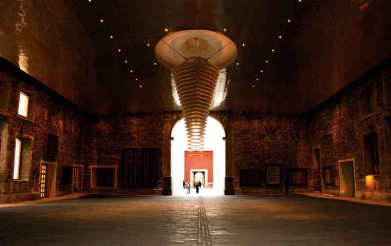 Biblioteca de México: conjunto de infinitos - patio-octavio-paz-hoja-de-tabasco