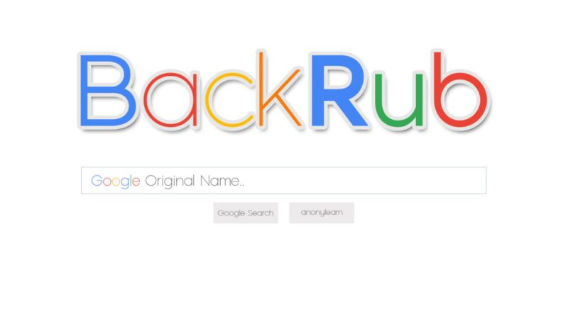 Datos que no sabías sobre Google - 2-backrub-hotbook