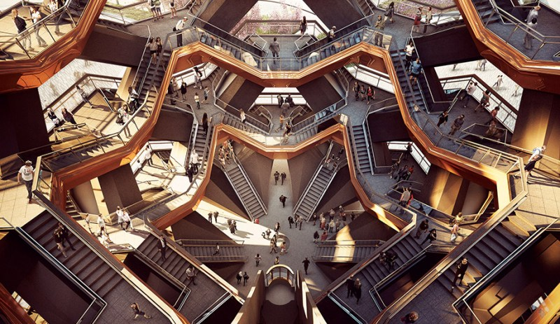 Hudson Yards abre sus puertas en Manhattan, Nueva York - hotbook_hudsonyards_interiorthevessel