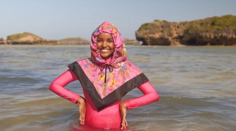 La primera modelo en aparecer en hiyab y burkini en Sports Illustrated - halimaaden_trajerosa