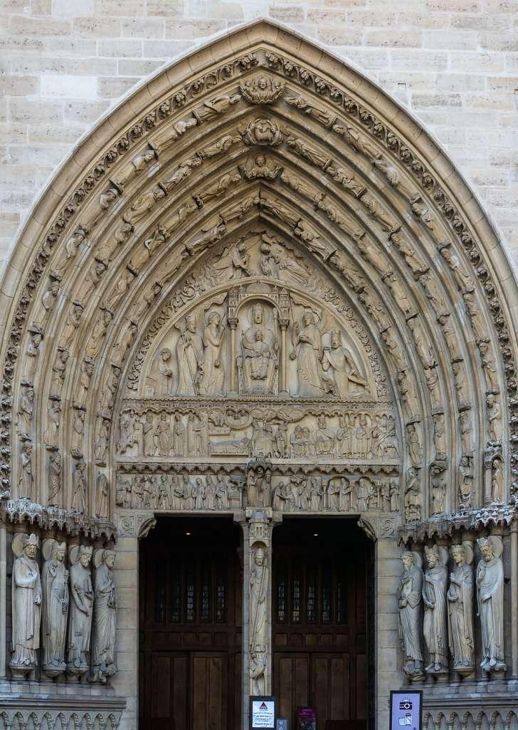 Datos históricos de la Catedral de Notre Dame - imagen-que-contiene-edificio-exterior-descripcio