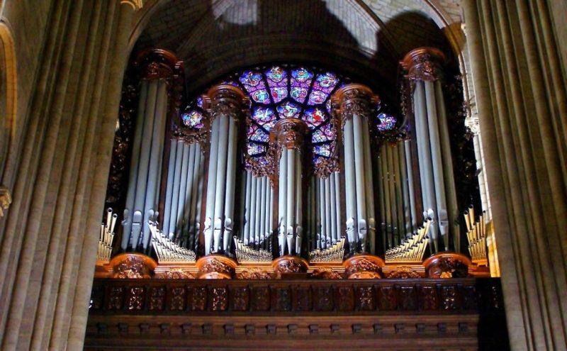 Datos históricos de la Catedral de Notre Dame - imagen-que-contiene-organo-interior-musica-pare