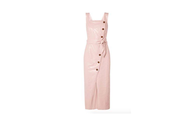 HOTstuff: piezas de temporada para él y para ella - vestido-piel-rosa-pastel-nanushka