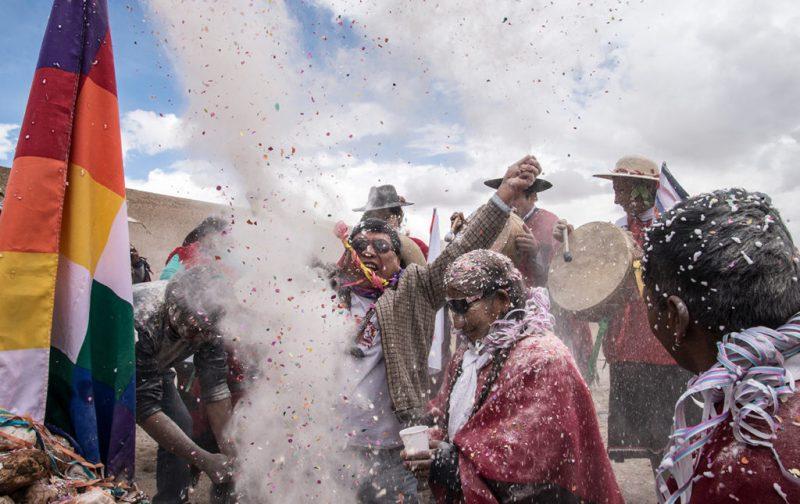 Carnaval: imágenes paganas - san-antonio-de-los-cobres-fiesta-carnaval-bandera-musica-tambores