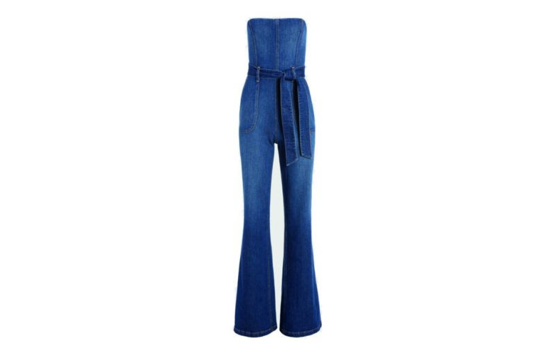 Los must-have de esta temporada - alice-olivia-jeans-susy-strapless-denim-jumpsuit