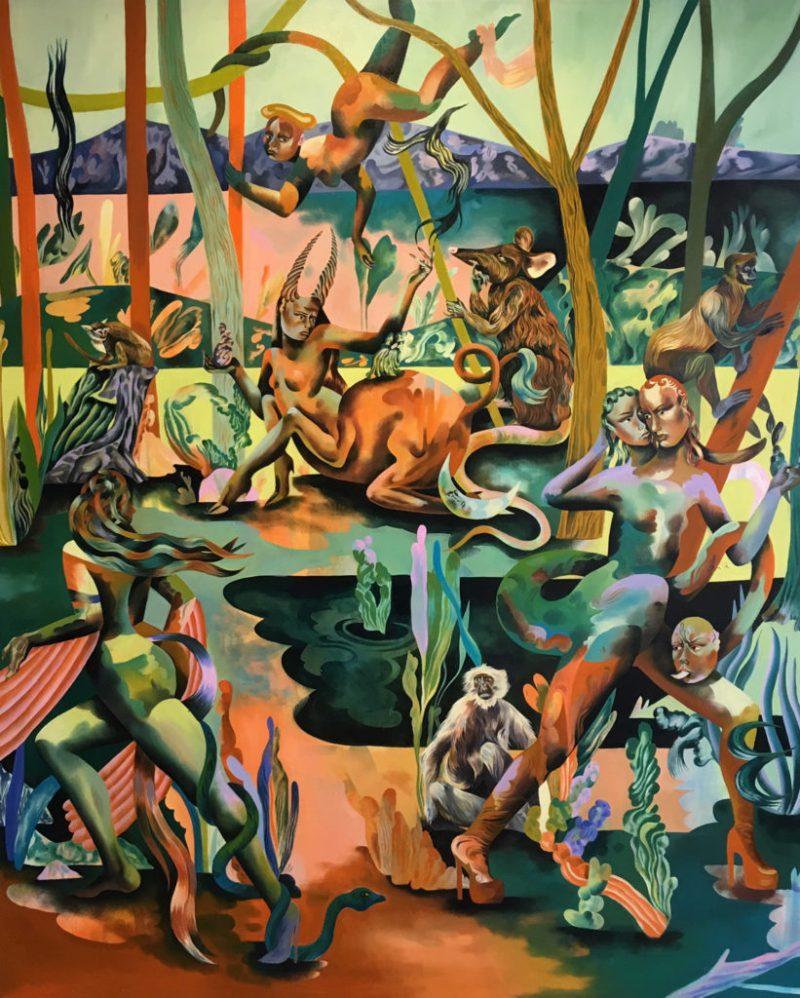 Jessie Makinson presenta su primera exposición en la Ciudad de México - 12-silver-her-thorns-200-x-165cm