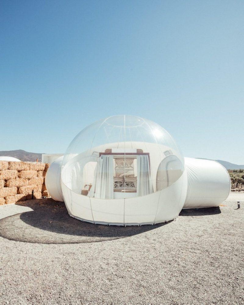 5 lugares para hacer glamping en México - camping-burbuja