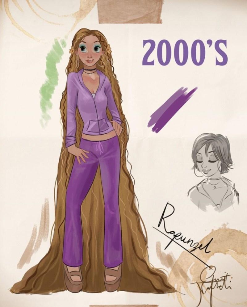 Amit Naftali, un joven ilustrador, dibuja a las princesas de Disney en distintas épocas - amit-naftali-un-joven-ilustrador-dibuja-a-las-princesas-de-disney-en-distintas-epocas-princess-google-online-verano-viajes-google-zoom-instagram-tiktok-foodie-recetas-como-hacer-a-donde-ir-summe