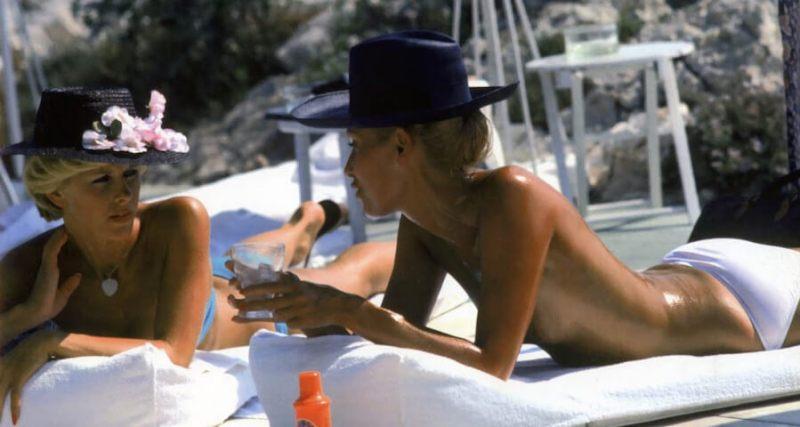 La época de oro de la Riviera Francesa - celebrities-france-summer-yacht-famous-dani-geneux-eugenie-gaudfin-eden-roc-hotel