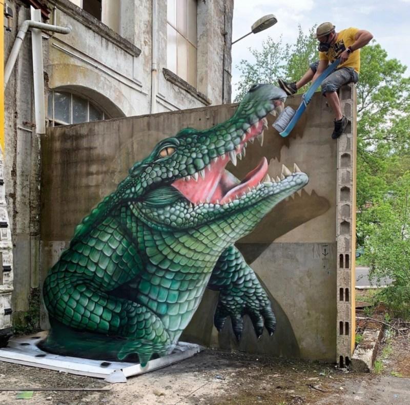 @scaf_oner y sus impactantes murales 3D - george-rousse-y-sus-impactantes-murales-3d-tercera-dimension-artista-google-viajes-verano-coronavirus-google-online-nueva-normalidad-restaurantes-1