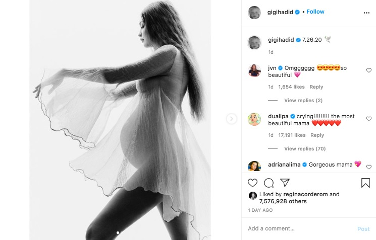 Mom to be: Gigi Hadid comparte sus primeras fotos de embarazo - screen-shot-2020-08-27-at-2-49-55-pm