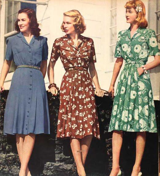 Evolución de la moda a través de los años - moda1940