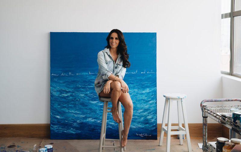 Marcela Cadena y su pasión por el azul - marcela-cadenaartista-cuadro