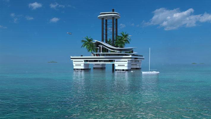 Kokomo Ailand, la isla flotante de lujo