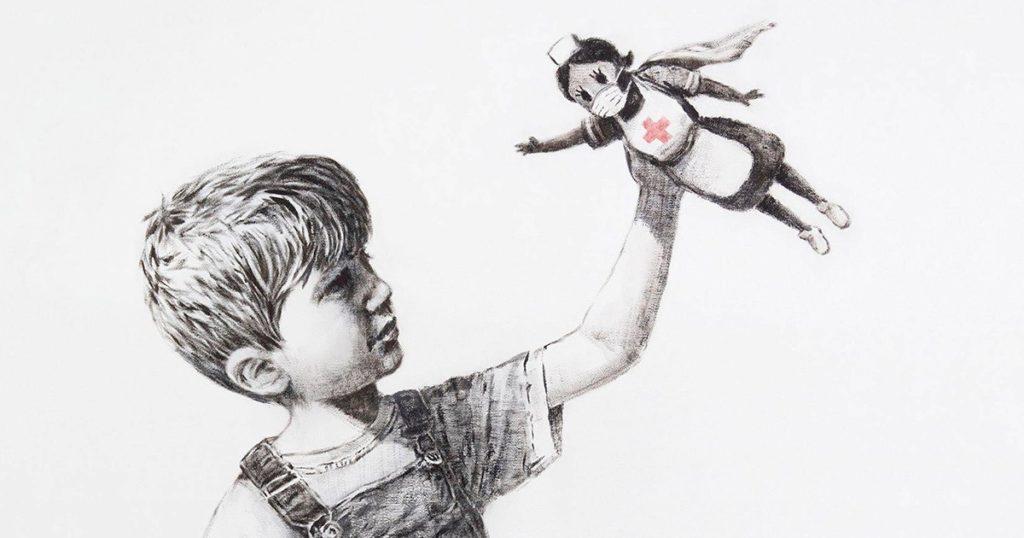 Banksy nos presenta a los verdaderos héroes y heroínas del siglo XXI en Game Changer
