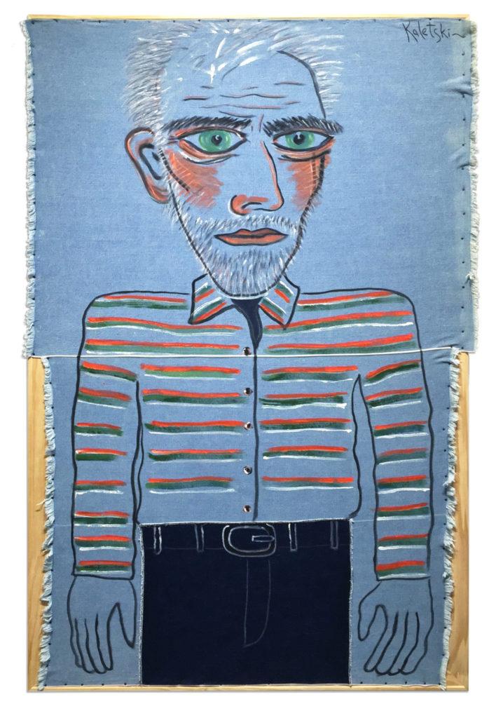 No te pierdas la nueva colección de arte de Alexander Kaletski: La vie en bleu - az723-ak-self-portrait-in-jeans
