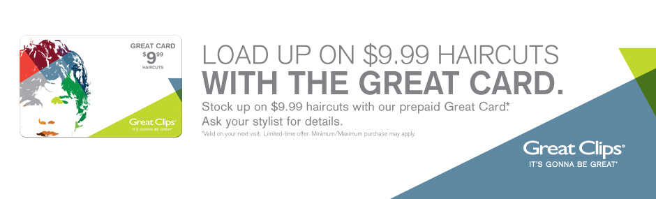 Great Clips 999 Haircuts With Prepaid Card Hot Canada