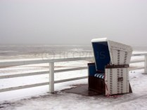 unbesetzter Strandkorb im Januar 2010