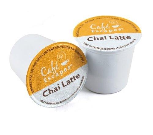 Café Escapes Chai Latte, K-Cup Portion Pack for Keurig Brewers, 24-Count