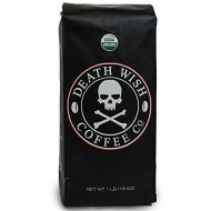 Death Wish Coffee, The World's Strongest Coffee, Fair Trade, Organic, Whole Bean, 16 Ounce Bag