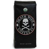 Death Wish Coffee, The World's Strongest Coffee, Fair Trade, Organic, Whole Bean, 16 Ounce Bag