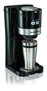 Hamilton Beach 49989 Grind and Brew Single Serve Coffeemaker, Small, Black