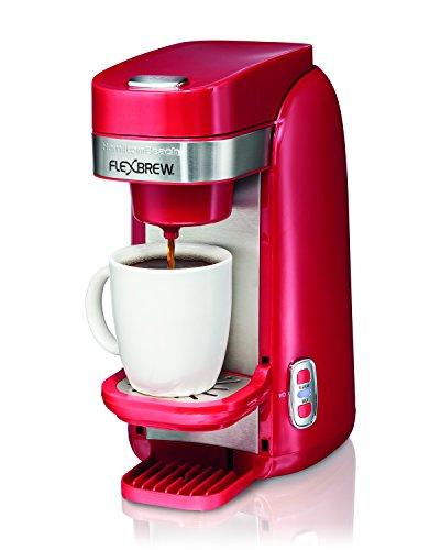 Hamilton Beach Single-Serve Coffee Maker, FlexBrew – Red (49960)