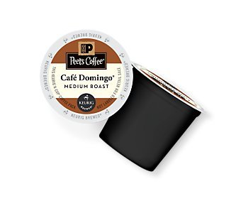 Peet's Coffee & Tea Cafe Domingo K-Cup Portion Pack for Keurig K-Cup Brewers, 22 Count