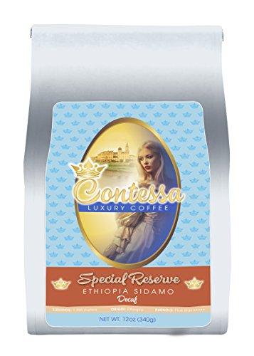 Contessa Coffee – Special Reserve DECAF Ethiopia SIDAMO,Whole Bean 12oz