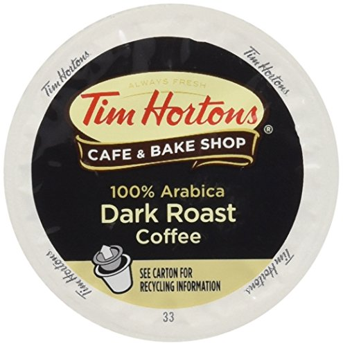 Tim Hortons Dark Roast Single Serve Coffee Cups, 96 Count