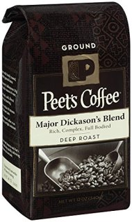 Peet's Ground Coffee, Major Dickason's, 12-Ounce