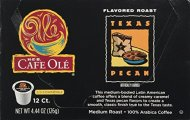 HEB Cafe Ole Coffee K-Cup 12ct Box (Pack of 4) (48 K-Cups) (Texas Pecan – Medium Bodied (blend of caramel and pecan flavors))