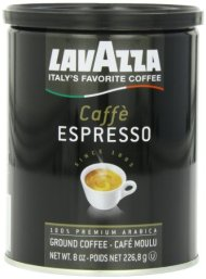 Lavazza Caffe Espresso – Medium Ground Coffee, 8-Ounce Cans (Pack of 4)