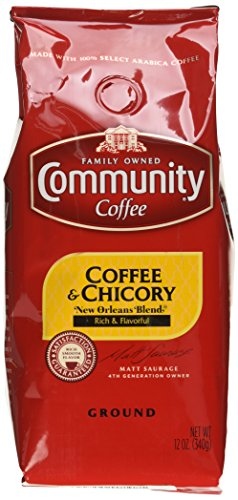 Community Coffee and Chicory Ground, 12 Ounce (Pack of 6)