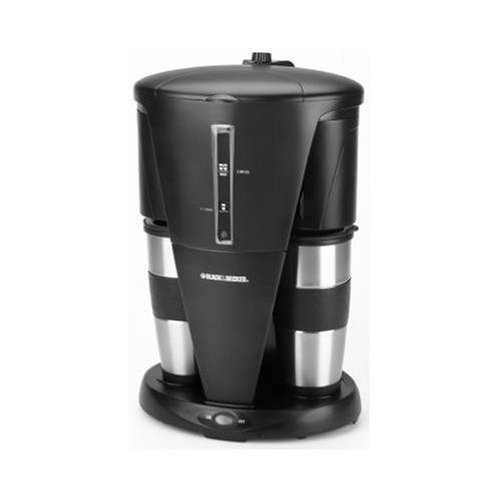 Black & Decker DDCM200 Dual Personal Coffeemaker, Black and Stainless