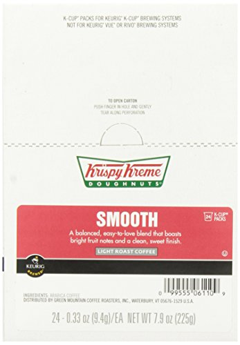 Krispy Kreme Smooth Coffee Keurig K-Cup Brewers, 24 Count