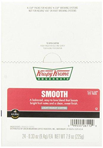 Krispy Kreme Smooth Coffee Keurig K-Cup Brewers, 24 Count
