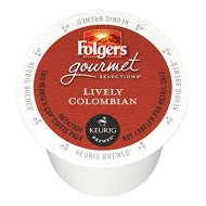 Folgers Gourmet Selections Single Serve Coffee – Lively Colombian – 80 K-Cups (Single Serve Portion Packs designed for use with Keurig Brewers)