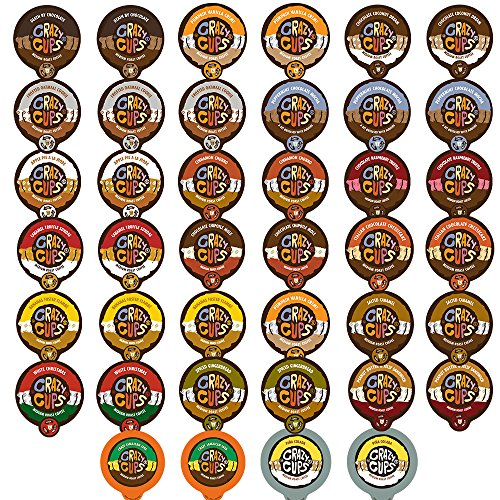 40-count Crazy Cups Flavored Coffee Single Serve Cups for Keurig K Cups Brewer Variety Pack Sampler