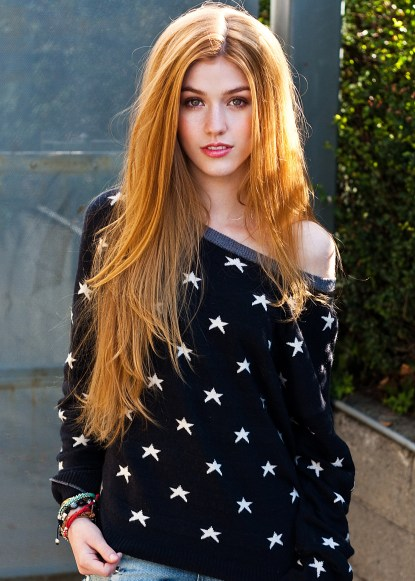 Actress Katherine McNamara (New Year's Eve 2011 and Tom Sawyer & Hucklberry Finn 2013) poses in various teen fashion trends and beauty looks.