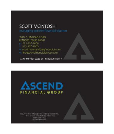 Ascend financial business card hot dog marketing porfolioascend colourmoves
