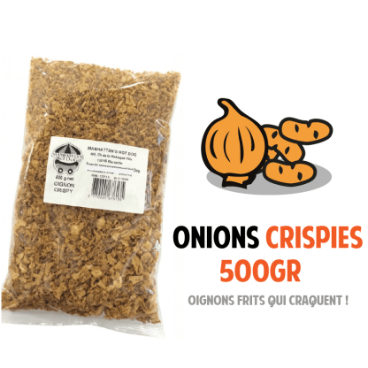 Onions Crispies Manhattan Hot Dog Sachet 500gr Oignons frits