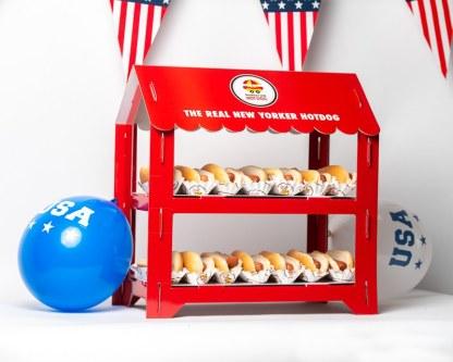 Présentoir Cartonné Manhattan Hot Dog