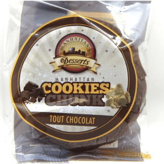 Découvrez en exclusivité les Cookies Tout Chocolat Manhattan Hot Dog ! Une recette authentique au goût délicieux de Chocolat au lait.