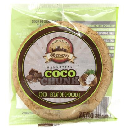 Découvrez en exclusivité les Cookies Coco Chocolat Manhattan Hot Dog. Une recette authentique au goût de Noix de Coco et Chocolat !